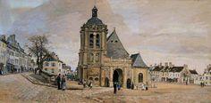 Ludovic Piette, La place Notre-Dame, Pontoise, 1874, Musée Pissarro Pontoise