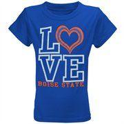 My U Boise State Broncos Youth Girls Love Bird T-Shirt - Royal Blue @Fanatics ® #fanaticswishlist