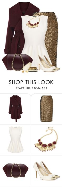 """""""Sequined Skirt"""" by pinkroseten ❤ liked on Polyvore featuring Oasis, Phase Eight, Alexander McQueen, Swesky, Alexander Wang, Sole Society, DAY Birger et Mikkelsen and Gorjana"""