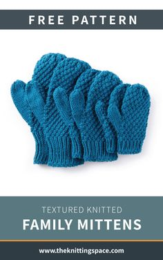 Looking for an easy knitting project for the weekend? Try your hands on these simple knitted mittens, ideal for beginner knitters to work on. This unisex knitwear is also perfect as donations for charity. Knitting For Charity, Knitting For Kids, Knitting For Beginners, Free Knitting, Baby Knitting, Winter Knitting Patterns, Knitted Mittens Pattern, Knit Mittens, Fingerless Mittens