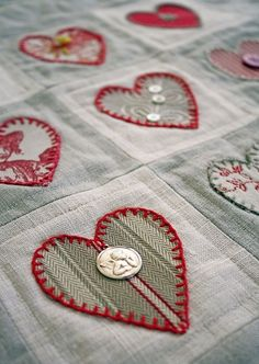 Love You Quilt With Adornments