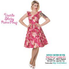 Shirley Vestido 50s Vintage Swing Floral Rosa