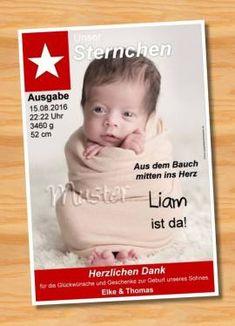 Ausgefallene Dankeskarten Geburt 195 - Bild vergrößern
