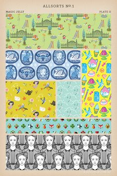 Some of my patterns available on Spoonflower.