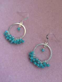 A personal favorite from my Etsy shop https://www.etsy.com/listing/384550896/mint-chalcedony-dangle-hoop-earrings