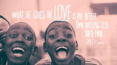 """""""What He gives in LOVE is far better than anything else you'll find..."""" - James 4:5 [MSG] http://hillsong.com/sites/hillsongcollected.com/files/assets/collected/contributors/James%204.5%20hillsong%20collected%20FULL%20SIZE.jpg"""