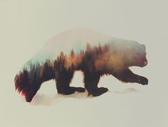Double Exposure Animal Photography Andreas Lie