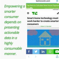 """""""...Presenting Actionable Data in a Highly Consumable Manner..."""" @techcrunch lays out practical advice for #SmartHome adoption and going beyond the initial #IOT craze... #internetofthings #internetofeverything #smarthome #cartoon #drawing #infographic #internet #technology #energyefficiency #environment #sustainableliving #sustainable #climatechange #smartAppliances #energyefficiency #technologyadoption #Hometech #homes by smartzerohome"""