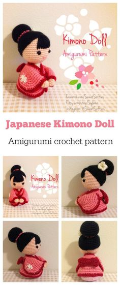 Super-cute Kimono Doll amigurumi crochet pattern. - Crocheting Journal