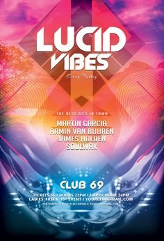 Lucid Vibes Flyer by styleWish on Graphicriver (Download the PSD)