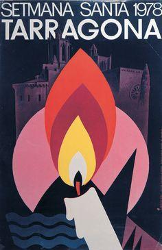 Spanish poster, 1978, Setmana Santa, Terragona.