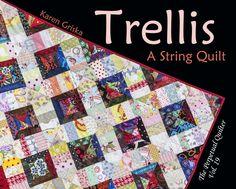 Trellis Quilt Pattern, Easy Quilt, String Quilt, Scrap Quilt, PDF Quilt Pattern…
