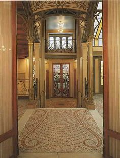 entrance of house of Victor Horta (Brussels)