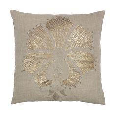 ACHICA | DAY Birger et Mikkelsen Sequin Lotus Cushion Cover, Natural