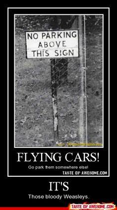 Weasley must park elsewhere.
