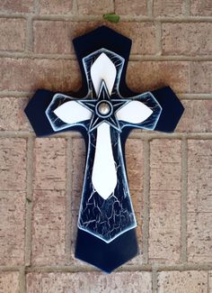 Large Dallas Cowboy Theme  Wood Cross by SignsBYDebbieHess on Etsy