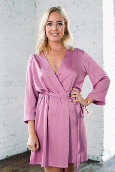 Lilac Satin Robes  Bridesmaid  amp  Brides Dressing Clothing 41ecda6d3