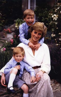 Princess Diana, Prince William, and Prince Harry.Diana left us with many wonderful moments in Time.
