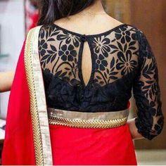 trendy blouses for designer sarees Saree Jacket Designs, Netted Blouse Designs, Pattu Saree Blouse Designs, Simple Blouse Designs, Stylish Blouse Design, Bridal Blouse Designs, Designer Blouse Patterns, Boutique, Black Blouse