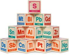 The Periodic Table Building Blocks are for Kid Geniuses #periodictable trendhunter.com