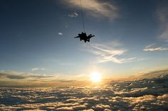 Jump out of a plane... only to dive into the sky. i will go sky-diving before i die.