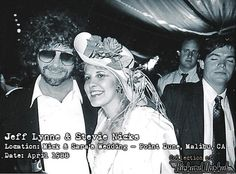 At Mick Fleetwood's wedding with Jeff Lynne of ELO (Electric Light Orchestra) fame