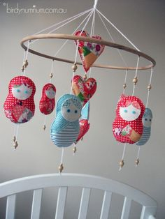 matryoshka mobile @Shannon Wilson you could sooo make this!