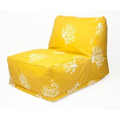 Coral Beanbag Yellow, $138, now featured on Fab.