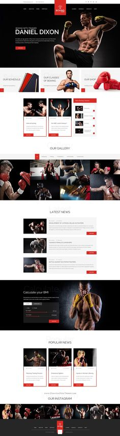 Sport Trainer is a universal #PSD template for #boxing trainer, yoga #trainer, personal crossfit trainer and other sport related niche #websites. Download Now!