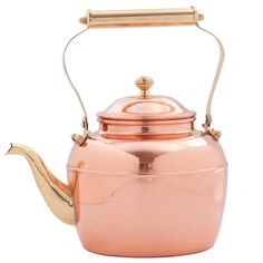 2.5-quart Solid Copper Tea Kettle with Brass Handle - Overstock™ Shopping - Big Discounts on Old Dutch Tea Kettles/Teapots