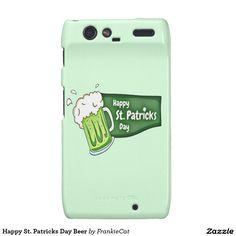 Happy St. Patricks Day Beer Motorola Droid RAZR Case