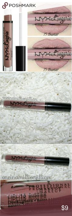 NYX Lip Lingerie Liquid Lipstick - Bustier New/Sealed  Full Sz & Authentic  Color: Bustier (dusty mauve)  Slip into something seductive with NYX Professional Makeup's Lip Lingerie Liquid Lipstick, a weightless liquid lipstick with a plush matte finish. This sultry shade will coat the curves of your lips with irresistibly creamy color.  Check my page for more great items & discounts. #oneinamillionjillian NYX Makeup Lipstick