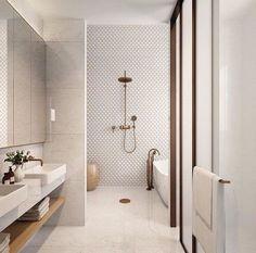 neutral bathroom bathroom, Great Minimalist Modern Bathroom Ideas - Home of Pondo - Home Design Contemporary Bathroom Designs, Bathroom Tile Designs, Bathroom Layout, Bathroom Interior Design, Small Bathroom, Bathroom Mirrors, Contemporary Bathrooms, Bathroom Cabinets, Dyi Bathroom