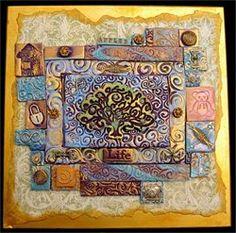 polymer clay mosaic - Tree of Life