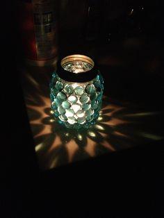Mason jar candle holder. kw.