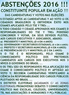 O POVO NATIVO BRASILEIRO TEM ALTERNATIVA ...  http://folhadtrigo.blogspot.com.br/  INTERVENÇÃO C/ JUNTA CIVIL/MILITAR, YAAHHH !!!  ABSTENÇÕES 2016, 2018 ...  CONSTITUINTE POPULAR EM AÇÃO,  POR UMA DEMOCRACIA DIRECTA; S/ PARTIDOS Y C/ CONSTITUINTE POPULAR, INDIOCINZENTO PRESIDENTE 2016 ...  VAMUS OCUPAR NOSSAS PÇs PÚBLICAS !!!  CONTATO: folhadtrigo@gmail.com