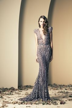Ziad Nekad Haute Couture Fall-Winter 2013-2014    You know, for my next red carpet event, Ukrainian Easter.