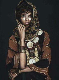 """""""Tomorrow's Tribe"""" Marina Nery by Sebastian Kim for Vogue Australia April 2014"""