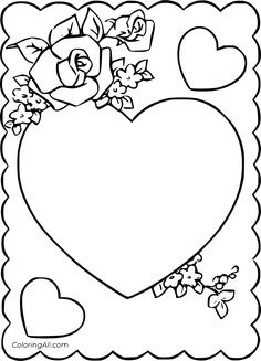 27 free printable Valentine Card coloring pages in vector format, easy to print from any device and automatically fit any paper size. Mothers Day Coloring Pages, Valentines Day Coloring Page, Love Coloring Pages, Happy Valentines Day Card, Cat Valentine, Coloring Books, Printable Valentine, Free Printable, Mother's Day Colors