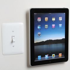 The PadTab Tablet Mounting System doesn't require any powertools or hard work to install it. Slide your tablet on and it'll stay safe, secure, and steady until you remove it. Tech Gadgets, Cool Gadgets, Computer Gadgets, Electronics Gadgets, Ipad Kitchen Stand, Tablet Wall Mount, Ipad Mount, Ipad Accessories, Kitchen Accessories