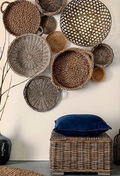 7 Cheap And Easy Tips: Wicker Rattan Antiques wicker porch floors.Wicker Patio Set wood and wicker furniture. Baskets On Wall, Wicker Baskets, Woven Baskets, Hanging Baskets, Decorative Wall Baskets, Wicker Planter, Bamboo Basket, Decorative Metal, Hanging Storage