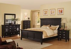 Summer Breeze Black Queen Panel Bedroom Collection - Furniture Outlet World - $1,237