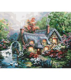"Paint By Number Kit 16""X20""-Cottage Mill at Joann.com"