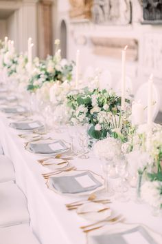 White And Green Wedding Reception Decor Flowers By Amie Long Table Wedding, All White Wedding, White Wedding Flowers, Floral Wedding, Green Wedding, Summer Wedding, Diy Wedding, Wedding Greenery, Wedding Reception Flowers