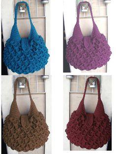 Crochet Crocodile Bag - Love the stitch, bag and colors.