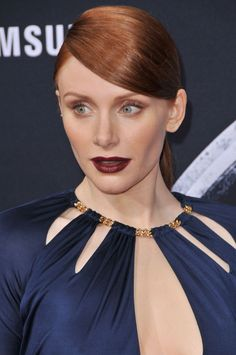Bryce Dallas Howard at the 2015 Hollywood premiere of 'Jurassic World'. http://beautyeditor.ca/2015/06/15/best-celebrity-beauty-looks-bryce-dallas-howard