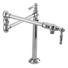 Buy the Newport Brass 9484/26 Polished Chrome Direct. Shop for the Newport Brass 9484/26 Polished Chrome Double Handle Deck Mounted Pot Filler Faucet with Metal Lever Handles from the 940 Series and save.