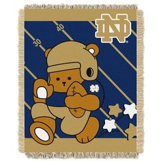 Shop For Notre Dame Baby Blanket. Free Shipping On Orders Over $45 At  Overstock.