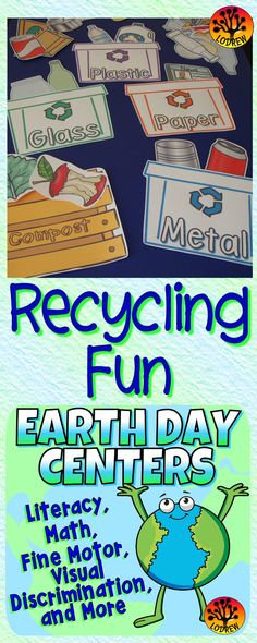 122 pages of earth day centers. Activities include literacy, math, shapes, numbers, counting, size sorting, beginning sounds, color words, scissor skills, one to one correspondence, emergent reader, alphabet, recycling, earth day activities, ten frames, letter matching, subitizing, recycle, number sets,spring, visual discrimination, number words, cardinality, bundle, fine motor, and more. For kindergarten, preschool, SPED, child care, homeschool, or any early childhood setting.