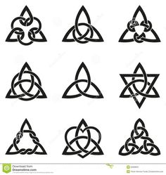 Nine Celtic Triangle Knots Stock Vector - Image: 52008631 ...